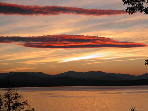 Lake Champlain Sunset image